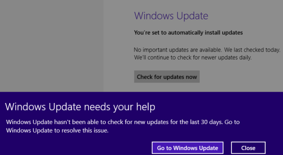 windows update needs your help