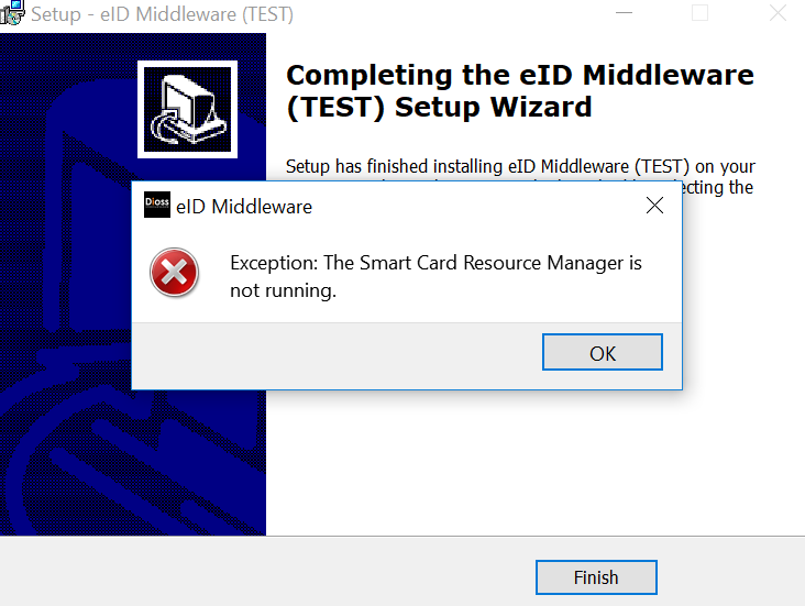 The Smart Card Resource Manager is not running