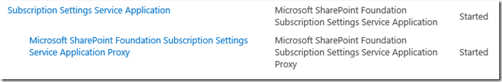 The Subscription Settings service and corresponding application and proxy needs to be running in order to make changes to these settings